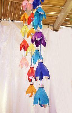 Deko Ideen Selber Machen Plastikflaschen Farbig