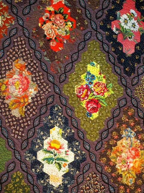 Paf 2015 1 Hexagon Quilts Quilts Paper Embroidery