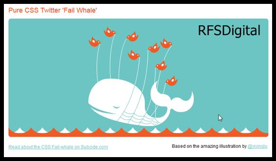 Ballena de Twitter en CSS3