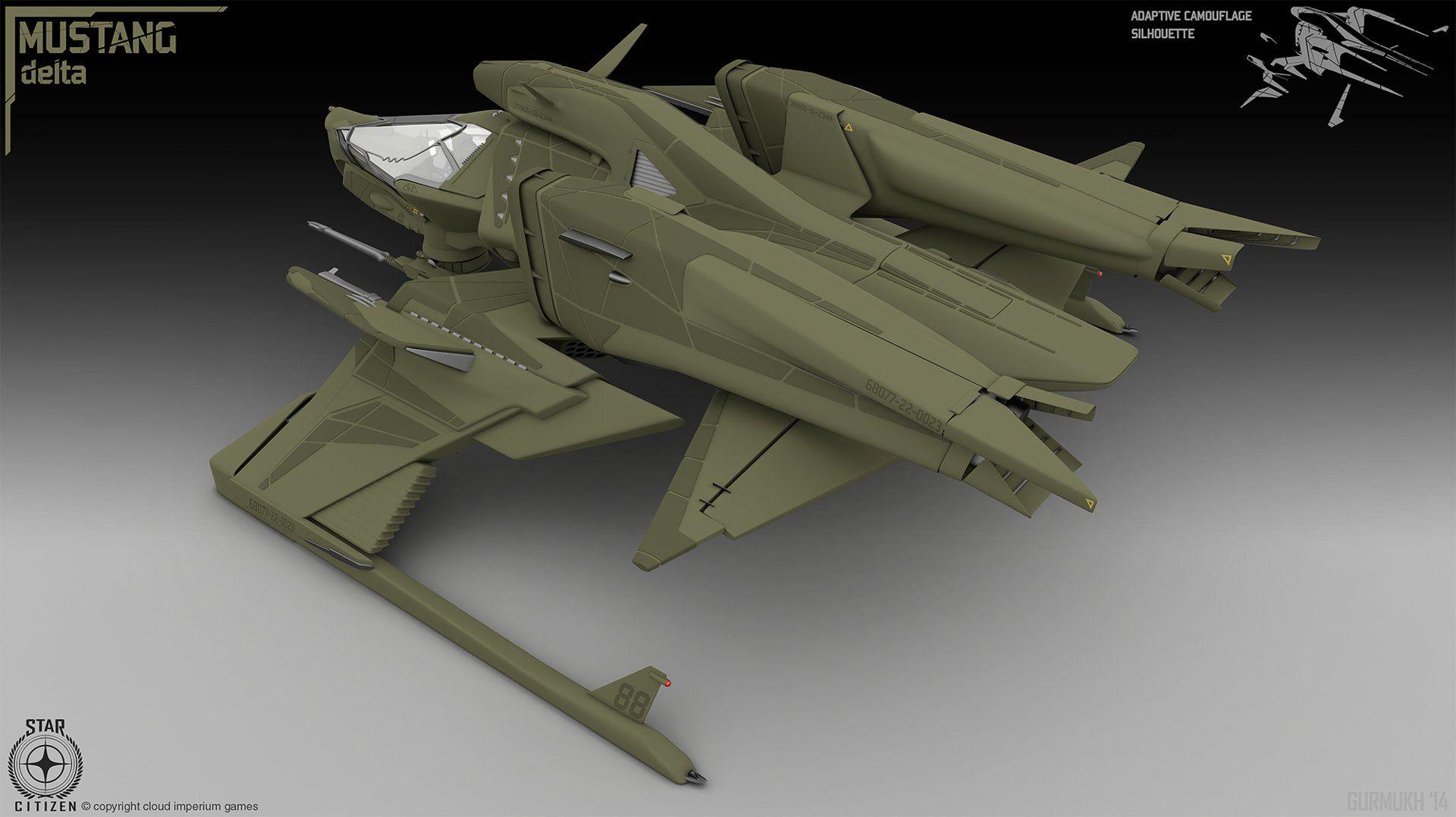ArtStation - Mustang Delta Concept Art (Star Citizen), gurmukh bhasin
