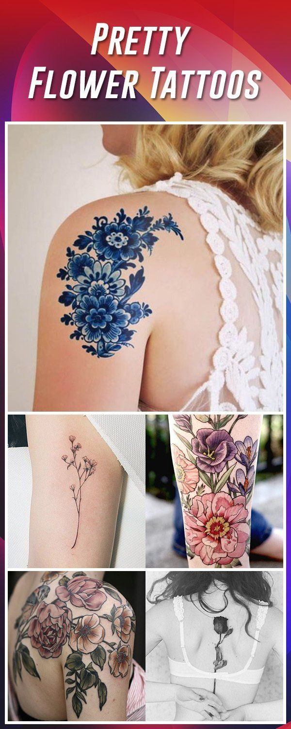 60 Best Flower Tattoos Meanings Ideas And Designs Pinterest