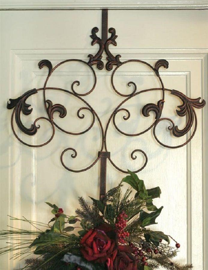 Scroll Decorative Wreath Metal Hanger Hook Over Door Welcome Spring Fall Decor Door Wreath Hanger Wreath Hanger Wreath Decor