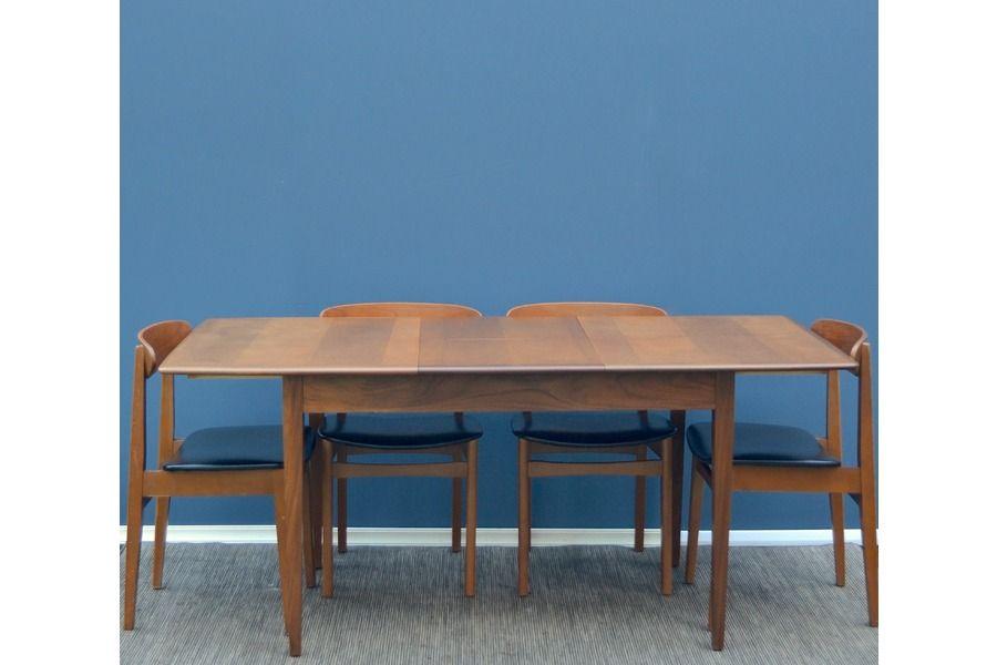 Fantastic Vintage Danish Extending Teak Table And Chairs Delivery - Teak table and 4 chairs
