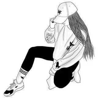 рисунки девушек в спортивной одежде в стиле тумблер: 11 ...