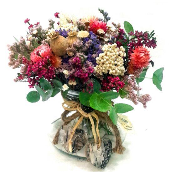 Jarron de cristal de flores secas | Flores secas | Pinterest
