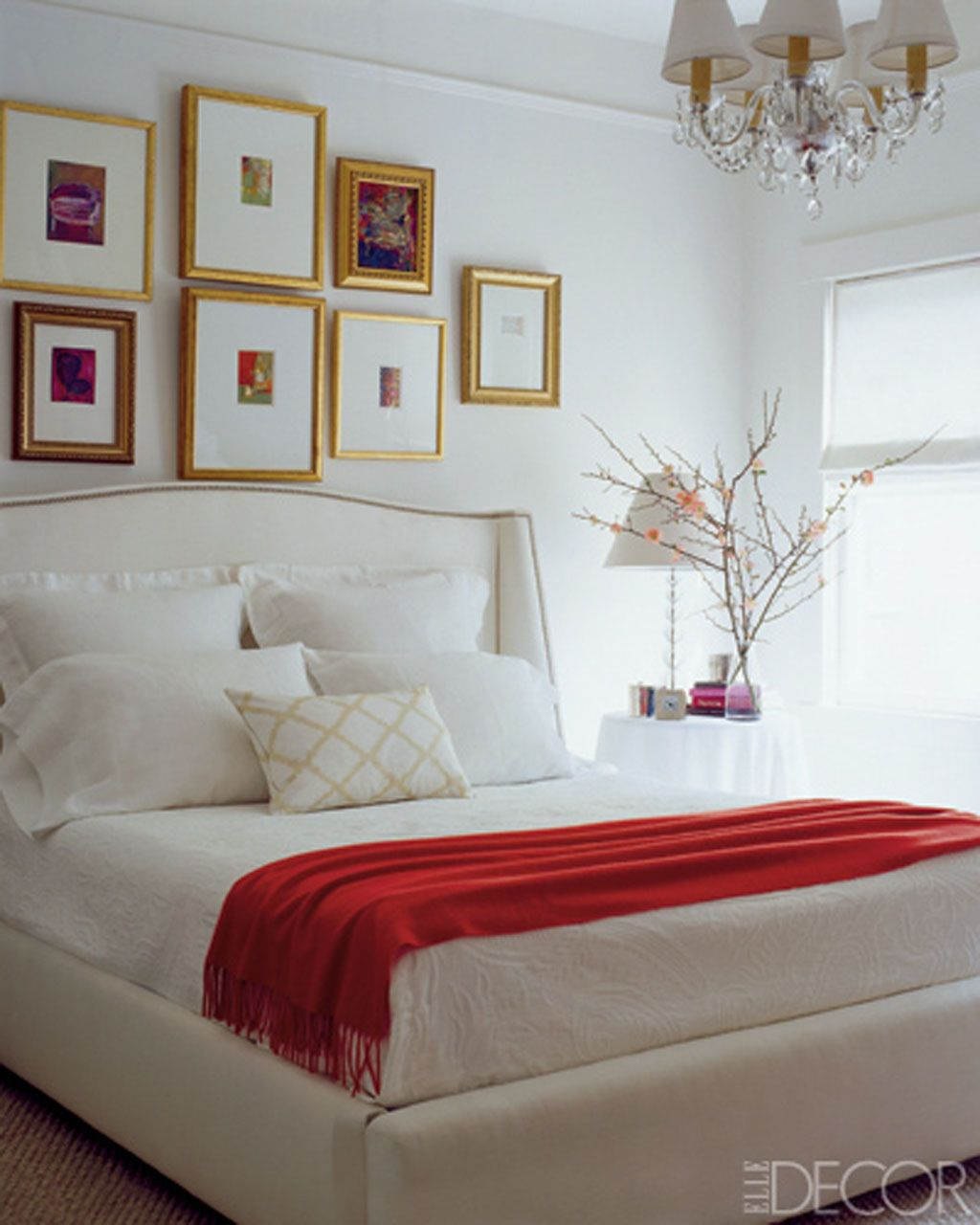 White and red bed sheets - 25 White Bedroom Furniture Design Ideas
