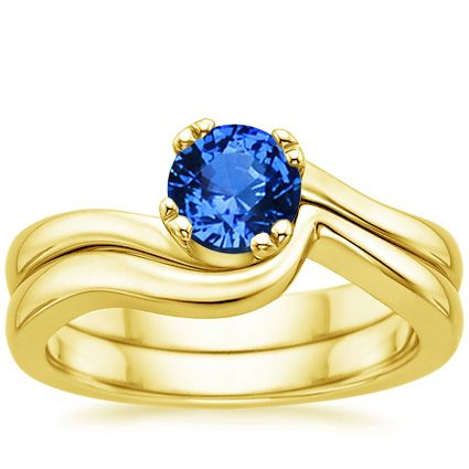 18K Yellow Gold Sapphire Seacrest Matched Set from Brilliant Earth
