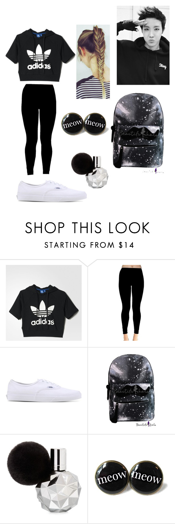 """""""J-hope inspired """" by bangtanbomb ❤ liked on Polyvore featuring adidas and Vans"""