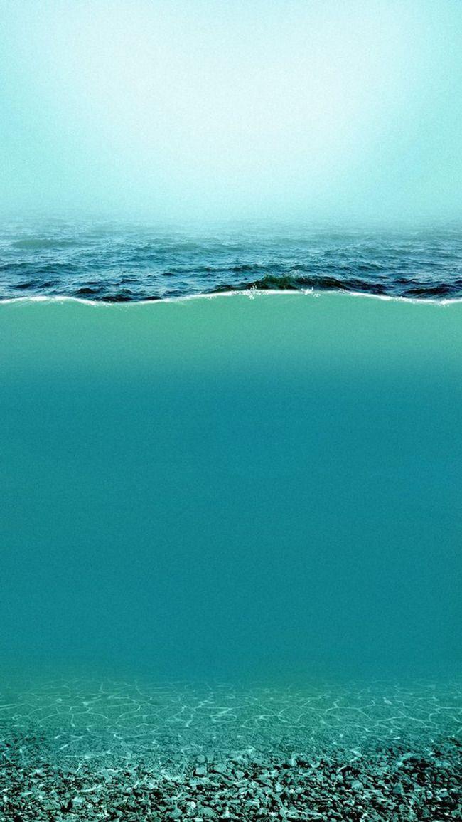 Laut Latar Belakang Bahan Berlapis H5