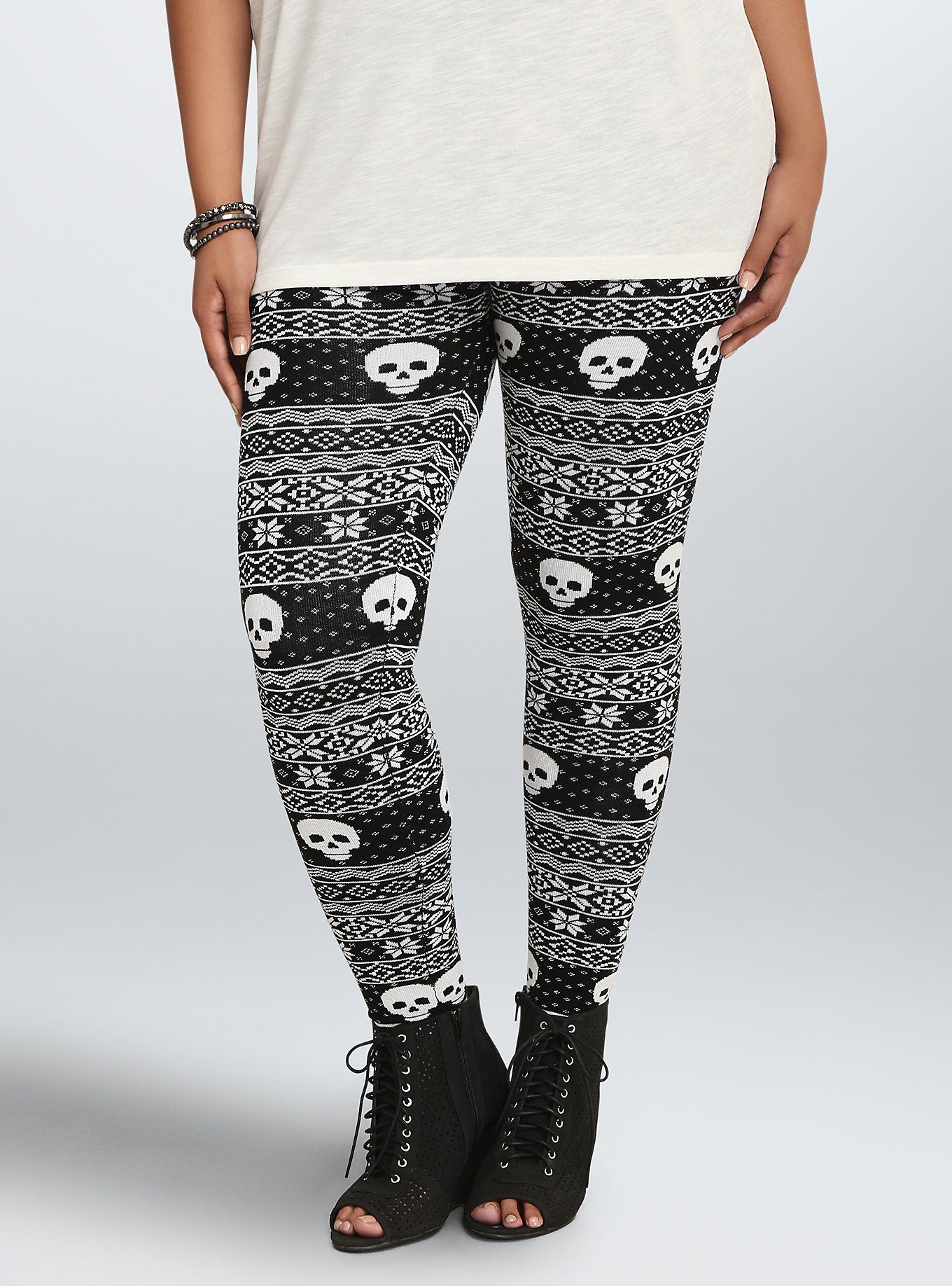 Skull Fair Isle Sweater Leggings | Fair isles, Torrid and Size ...