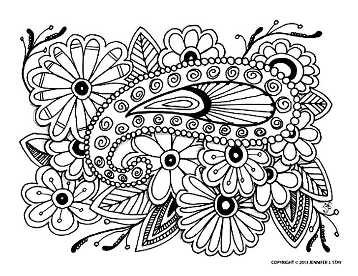 Free coloring page coloring-adult-difficult-16. Complex coloring ...