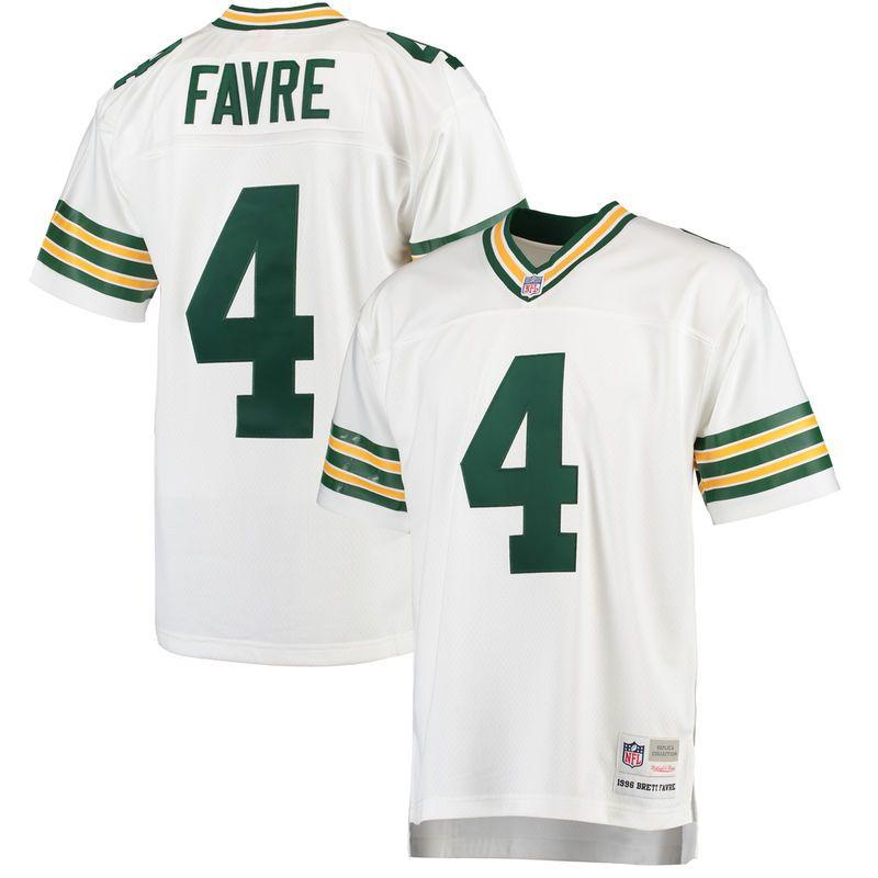 best service 78938 cb81b Brett Favre Green Bay Packers Mitchell & Ness Retired Player ...