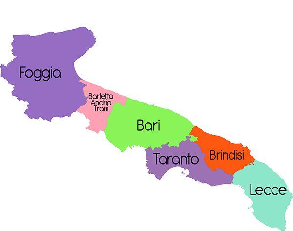 Puglia - Cartina