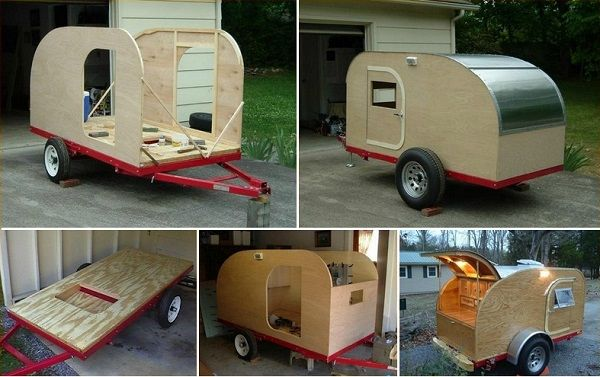 Diy teardrop camping trailer for How to build a motorhome plans