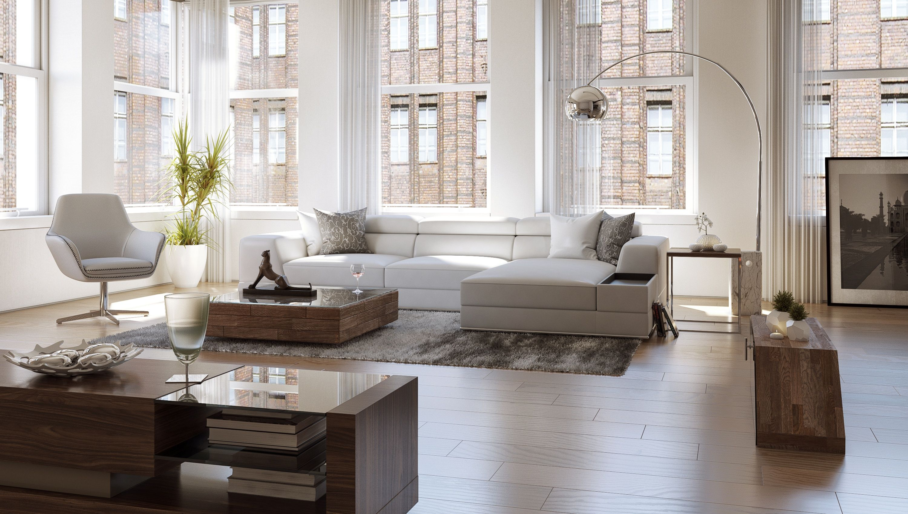 Bergamo Sectional Leather Modern Sofa Gray Best Sofas Nyc Contemporary And Furniture Stores For Your Home At