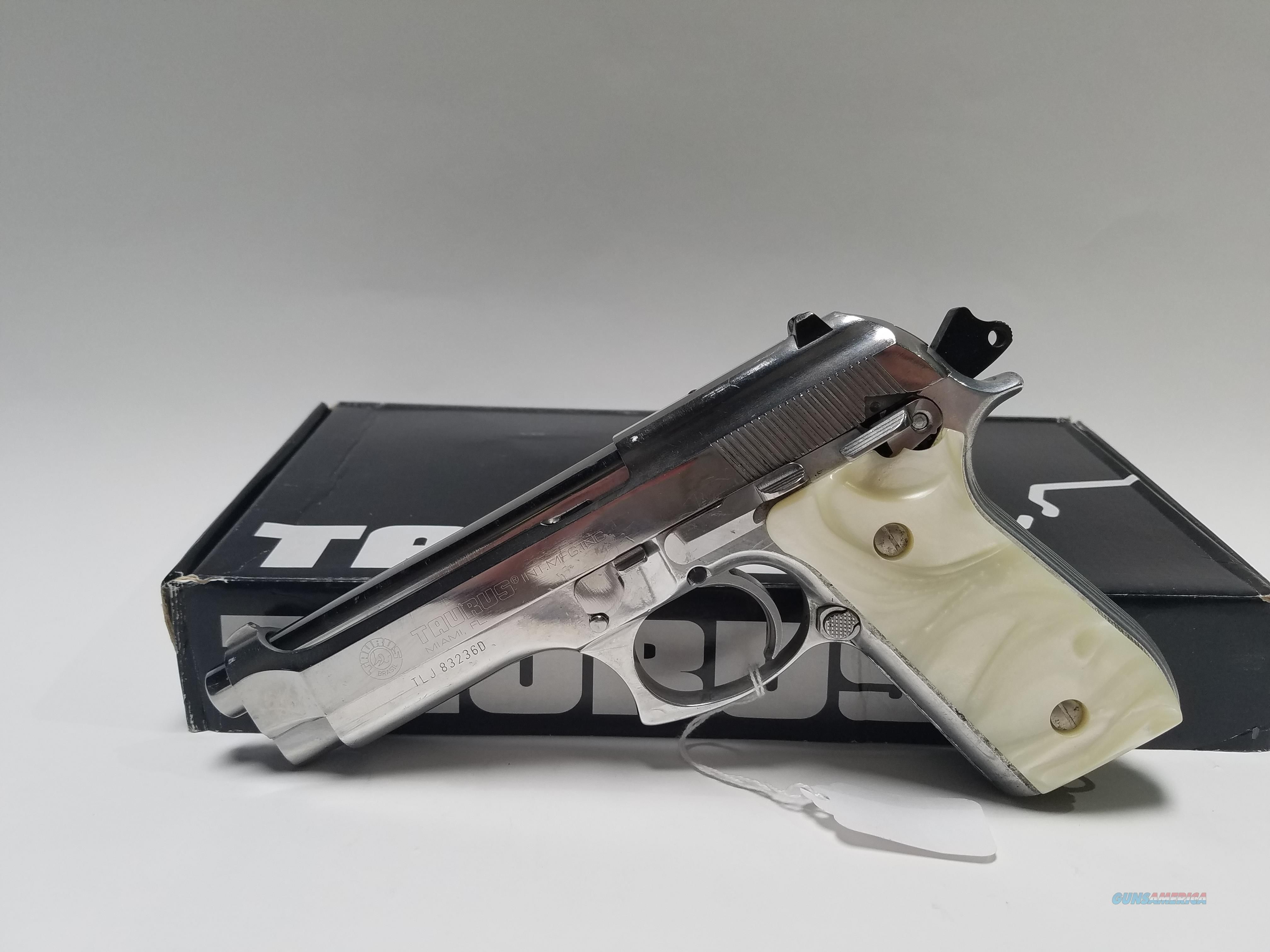 hight resolution of taurus pt92 afs 9mm w mother of pearl grips factory refurb guns