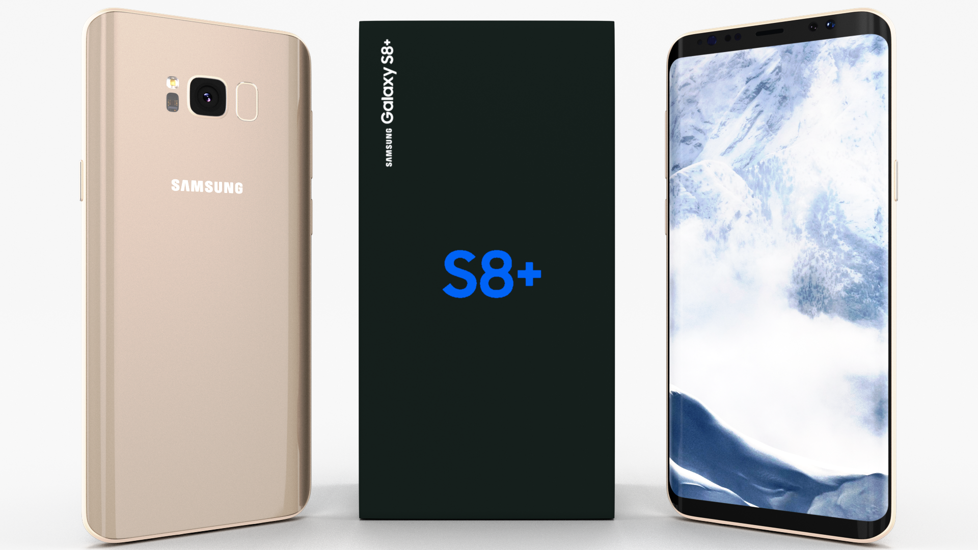 Samsung Galaxy S8 And S8 Pack Galaxy Samsung Galaxy Business Card Design Simple