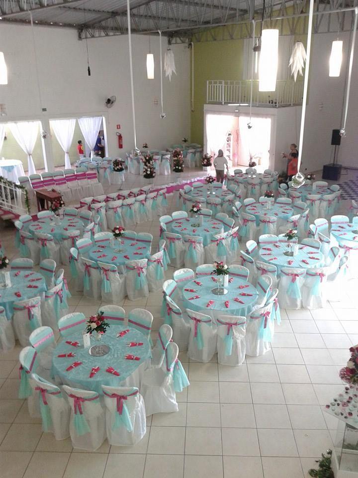 b073598f1ccd9 Salão Azul Tiffany e Rosa - Espaço Joy Cotia - Decoração Splendour  Decorações e Eventos
