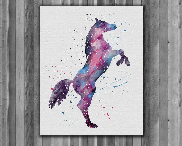 Watercolour paintings – Horse print watercolor Printable Art – a unique product by Irene913 on DaWanda