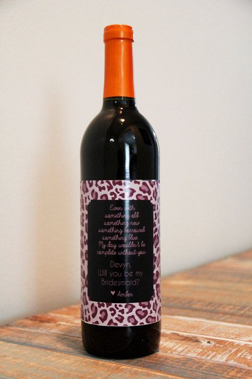 Will You Be My Bridesmaid Wine Bottle Label Wedding Party Favor Gift Asking Bridal Maid Of Honor
