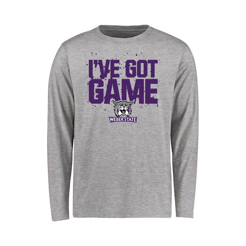 Weber State Wildcats Youth Got Game Long Sleeve T-Shirt - Ash ... 716de5900fb