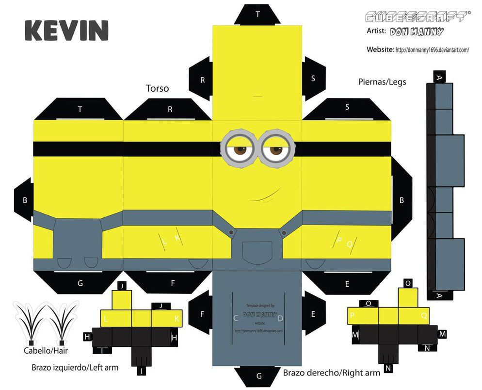 cubeecraft minion kevin by donmanny1696 on deviantart. Black Bedroom Furniture Sets. Home Design Ideas