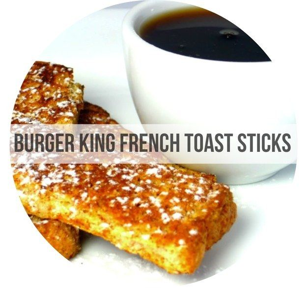 Burger King French Toast Sticks