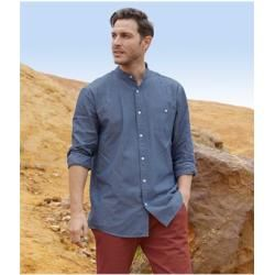 Photo of Chambray shirt with officer's collar Atlas For Men