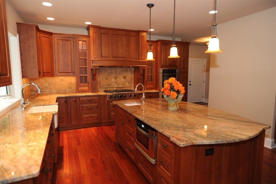 brazilian cherry floor and cherry kitchen cabinets