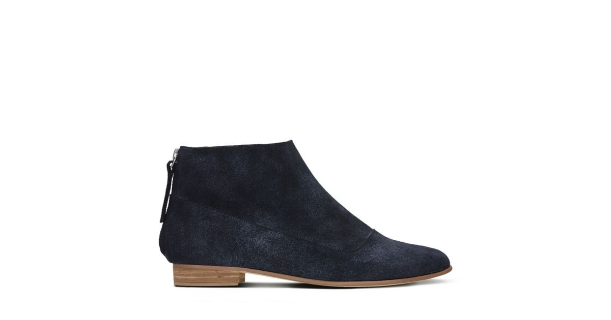 5f4cf5401e0 Pure Craft Navy Suede - Women's Booties & Ankle Boots - Clarks® Shoes  Official Site   Clarks