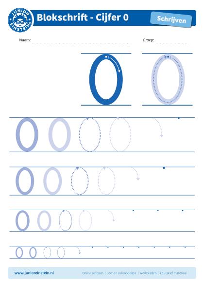 Cijfer 0 Dit Werkblad Biedt Het Cijfer 0 Aan Oefen Eerst Het Cijfer Een Aantal Keer Op De Eerste Grote Cijfers Oefen D Schrijflessen Schrijven Blokletters