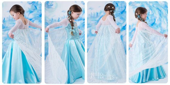 Frozen costume Elsa inspired dress 6/7 satin style skirt | Nähen für ...