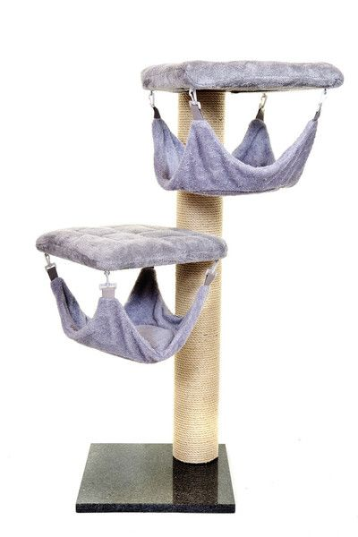 Luxury Double Fabric Platform Cat Hammock Tower Tilly Tigga Towers