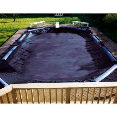 Swimline Swimline 20 X 45 Deluxe Winter Cover S2045rc The Home Depot Winter Pool Covers Pool Sizes Pool Cover