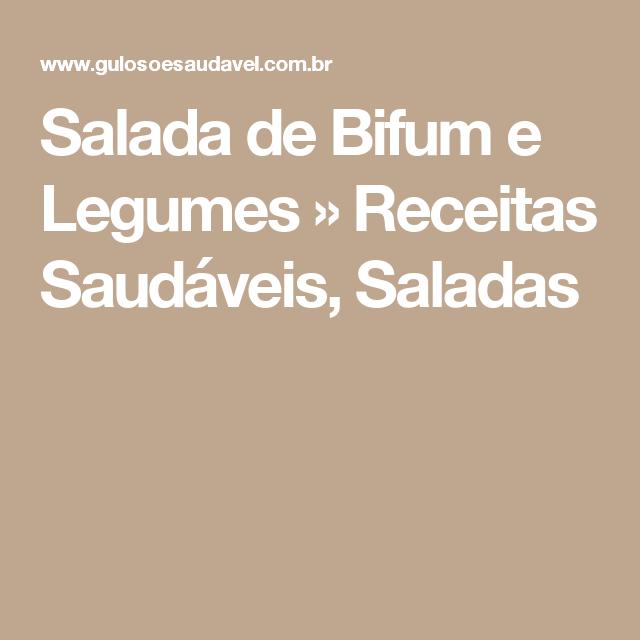 Salada de Bifum e Legumes » Receitas Saudáveis, Saladas