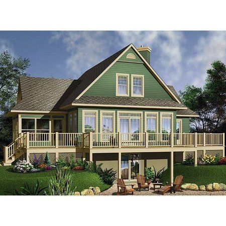 TheHouseDesigners1150 Cottage House Plan with Walkout Basement 5 Printed Sets