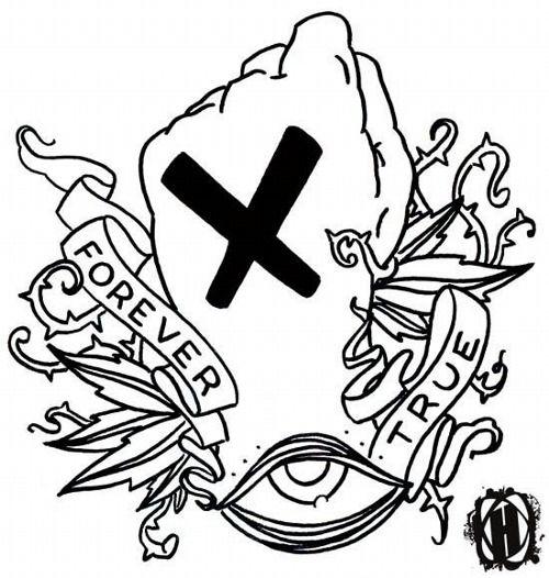 Straight Edge Tattoo X True Tattoo Ink Tattoo Straight Edge Tattoo