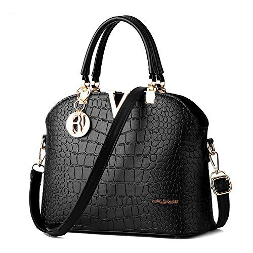 XYH PU Leather Womens Shoulder Bags TopHandle Handbag Tote Purse Bag ** See this great product.Note:It is affiliate link to Amazon.