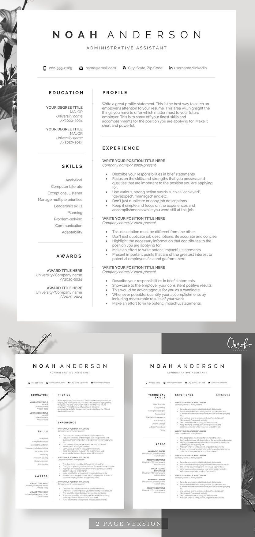 Resume, Resume template, Professional resume template