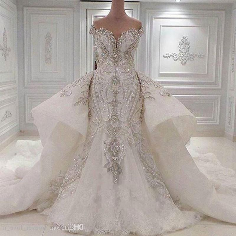 Luxury Dubai Wedding Dress Plus Size Mermaid Wedding Gowns ...