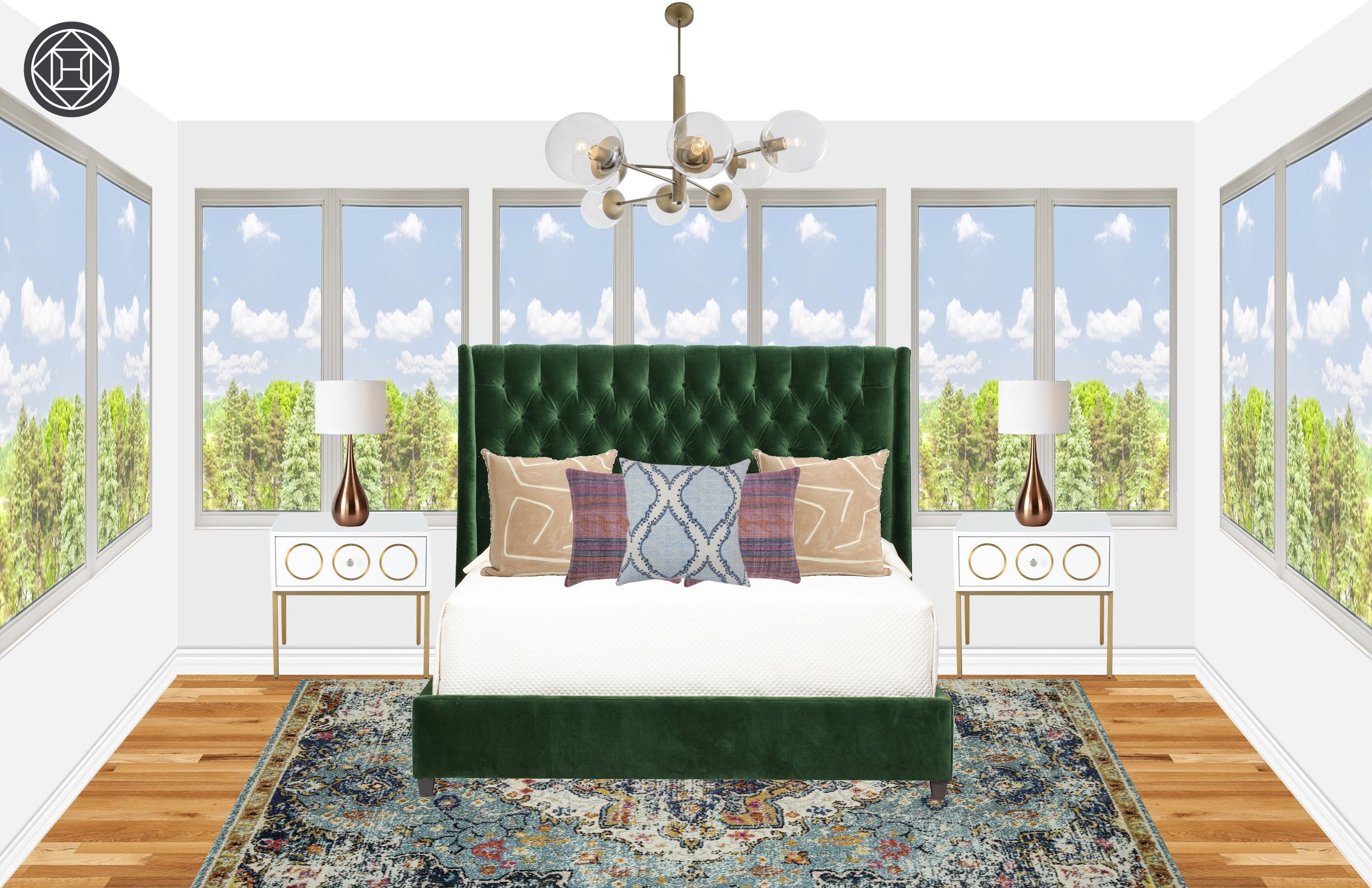 Modern, Eclectic, Midcentury Modern Bedroom Design by ...