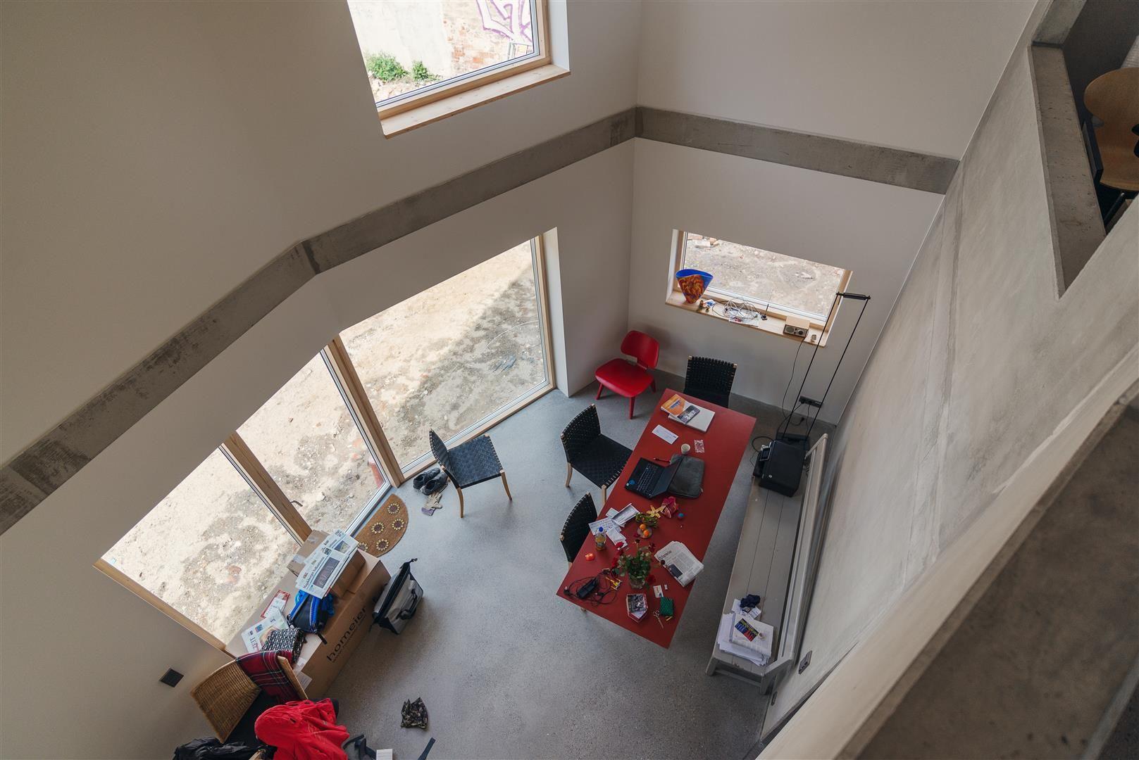 Sichtbeton, Terrazzo, Holz, Stadthaus, Einbaumöbel Neubau ...