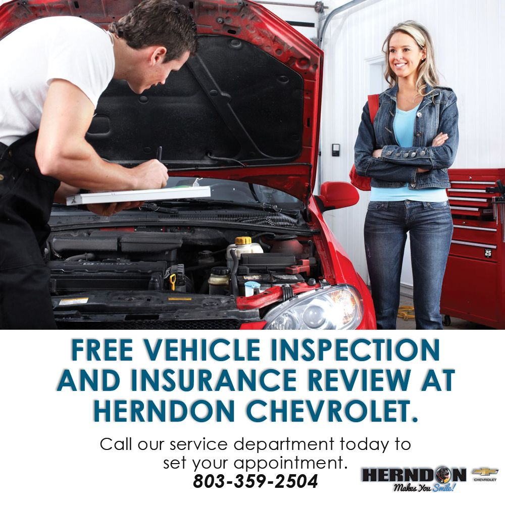 Herndon Chevy Offers Free Inspection And Insurance Review For Sc Flood Victims Herndon Chevrolet Blog Chevrolet Herndon Vehicle Inspection