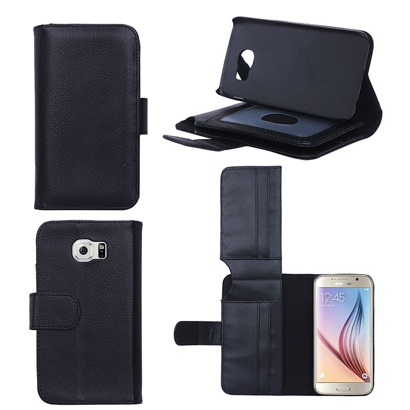Luxury For Samsung S6 / S6 Edge Wallet Leather With 7 Cards Slots Stand Holder Flip Cover Case For Samsung Galaxy S6 S 6 Edge
