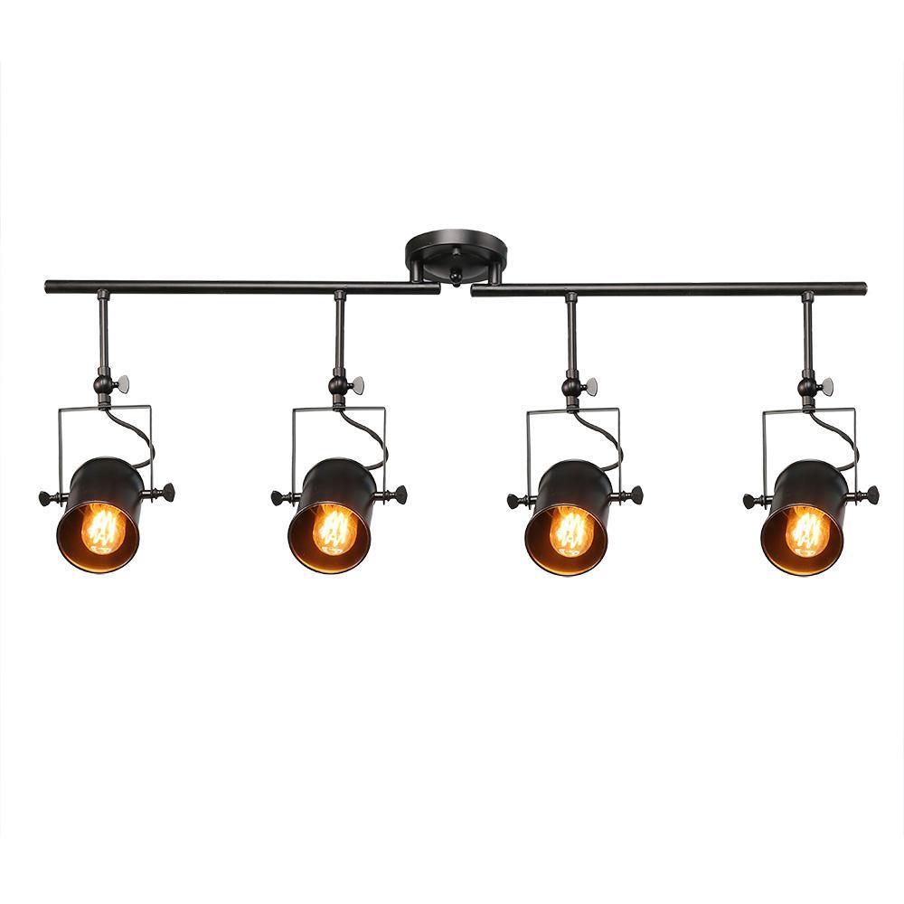 LNC 4Light Farmhouse Wall Track Lighting Kit for Kitchen