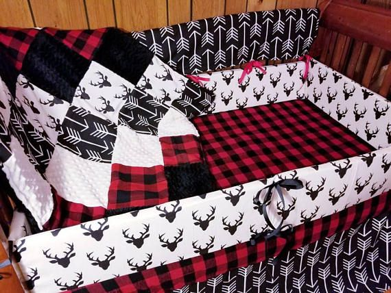Blowout Sale***Woodsman/Lumberjack baby bedding set (sale price for sets only)