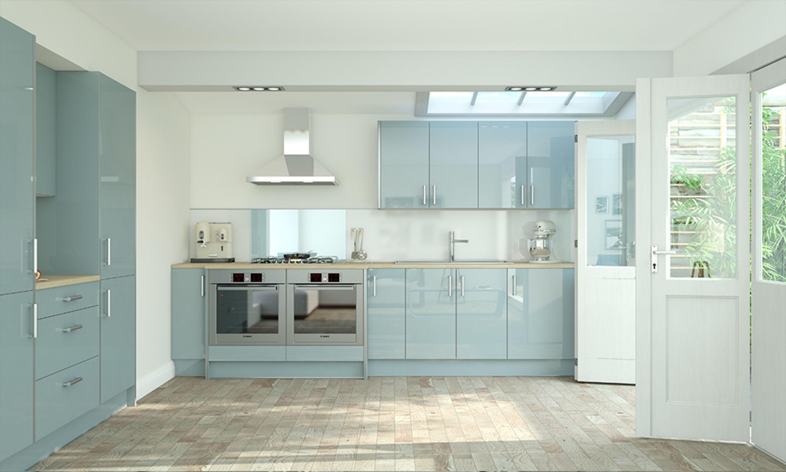 Wren quartz Blue kitchen Light blue kitchens