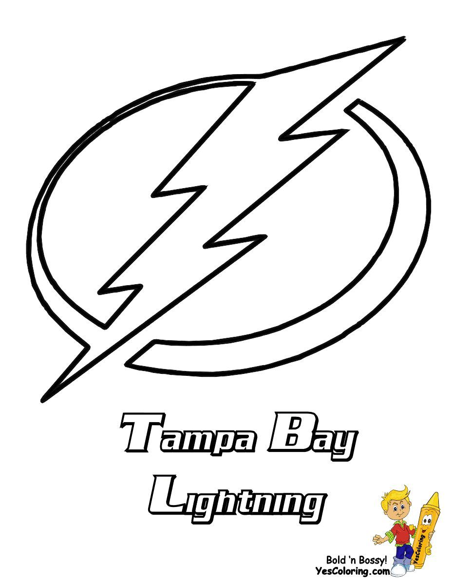 Stone Cold Hockey Coloring With Images Tampa Bay Lightning