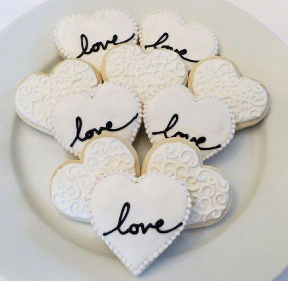 biscoitos amanteigados decorados com glacê R$ 4,50 | Wedding ...