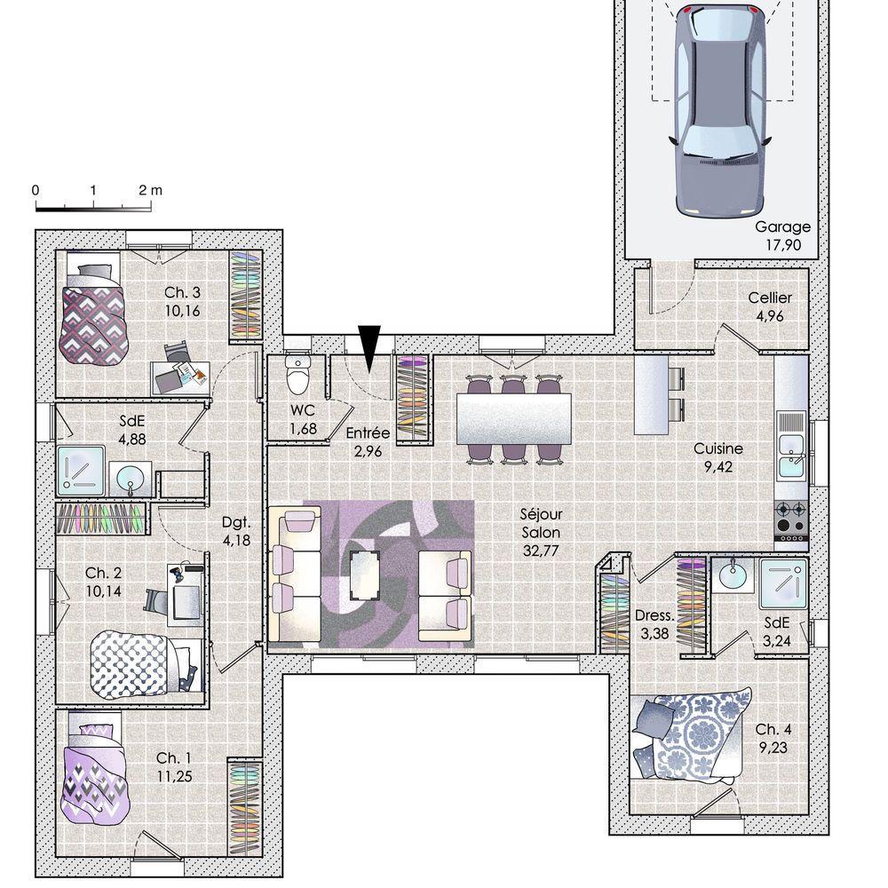 Découvrez Les Plans De Cette Une Maison En Phase Avec Son époque Sur Www. Construiresamaison